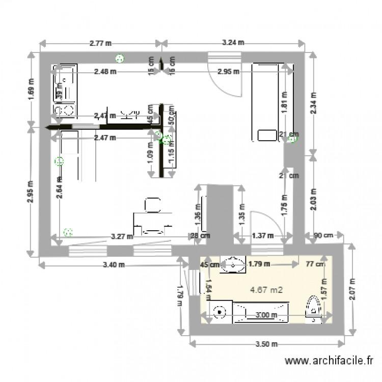 appartement strasbourg plan 1 pi ce 5 m2 dessin par doopychen. Black Bedroom Furniture Sets. Home Design Ideas