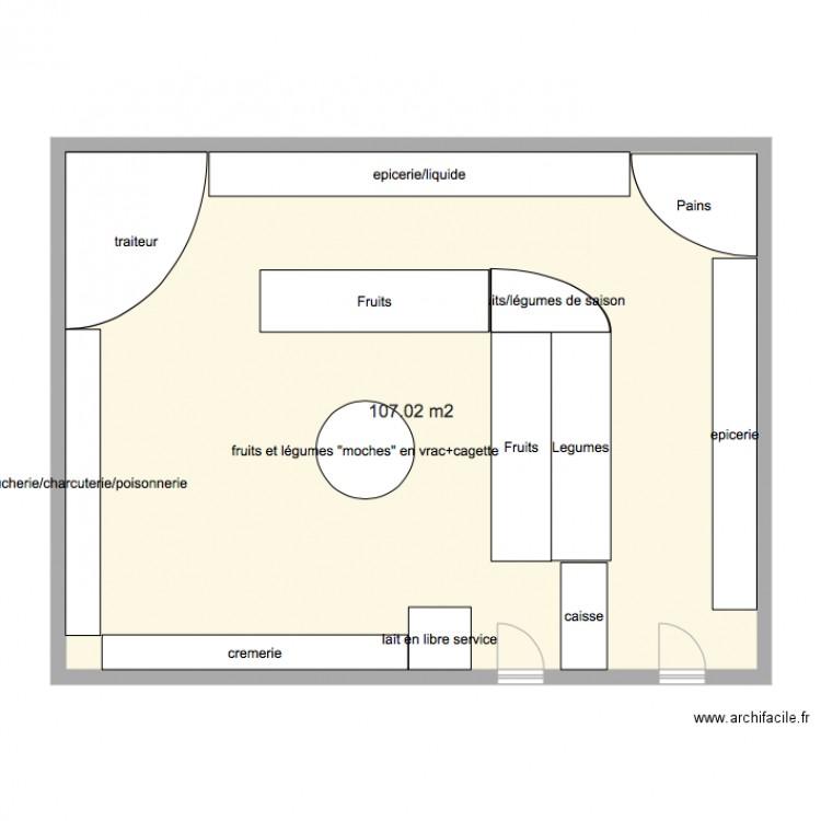 Plan De Masse Magasin Plan 1 Pi Ce 107 M2 Dessin Par Foueks