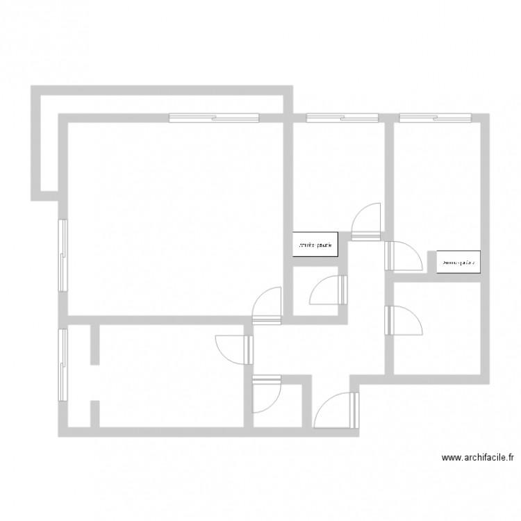 Plan de ma maison plan 8 pi ces 83 m2 dessin par jorge for Plan de ma maison