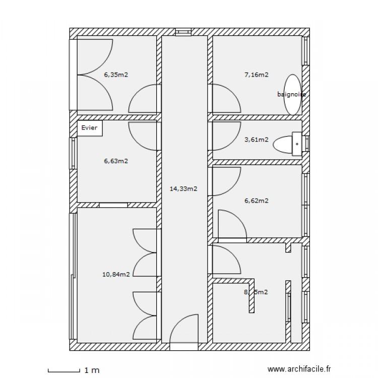 Maison luxueuse plan 8 pi ces 64 m2 dessin par mimif02 - Plan de maison luxueuse ...
