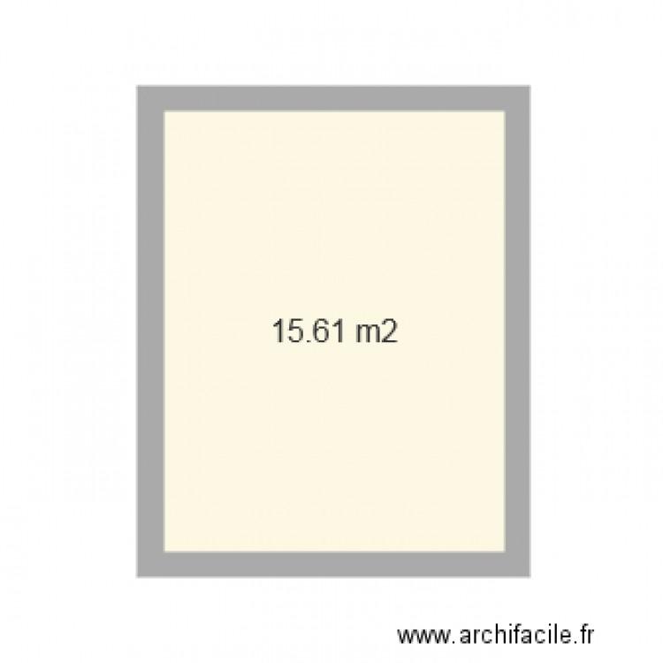 Bureau plan 1 pi ce 16 m2 dessin par soniad41 for Nombre de m2 par personne bureau
