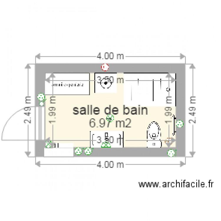 salle de bain plan 1 pi ce 7 m2 dessin par audic