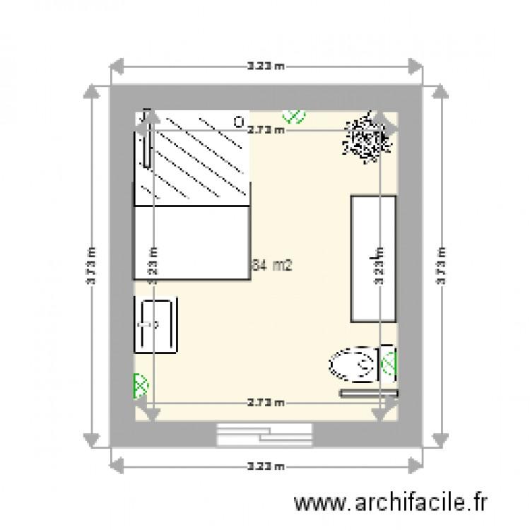 Salle De Bain Am Nag E Plan 1 Pi Ce 9 M2 Dessin Par