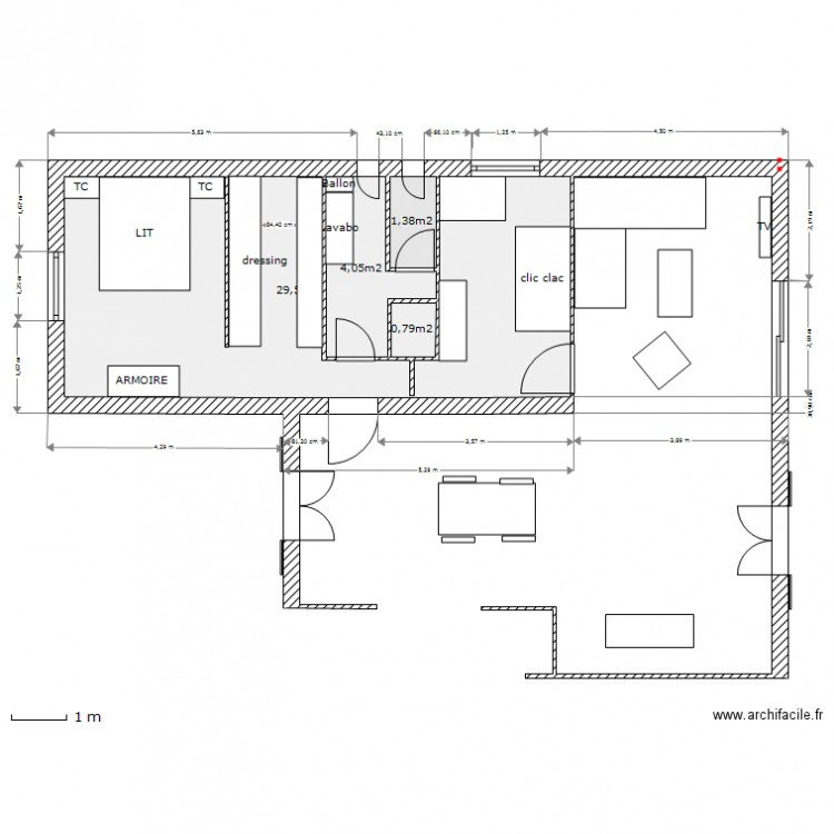 Extension maison 2013 27 04 pour macon plan 4 pi ces 36 for Extension maison plan