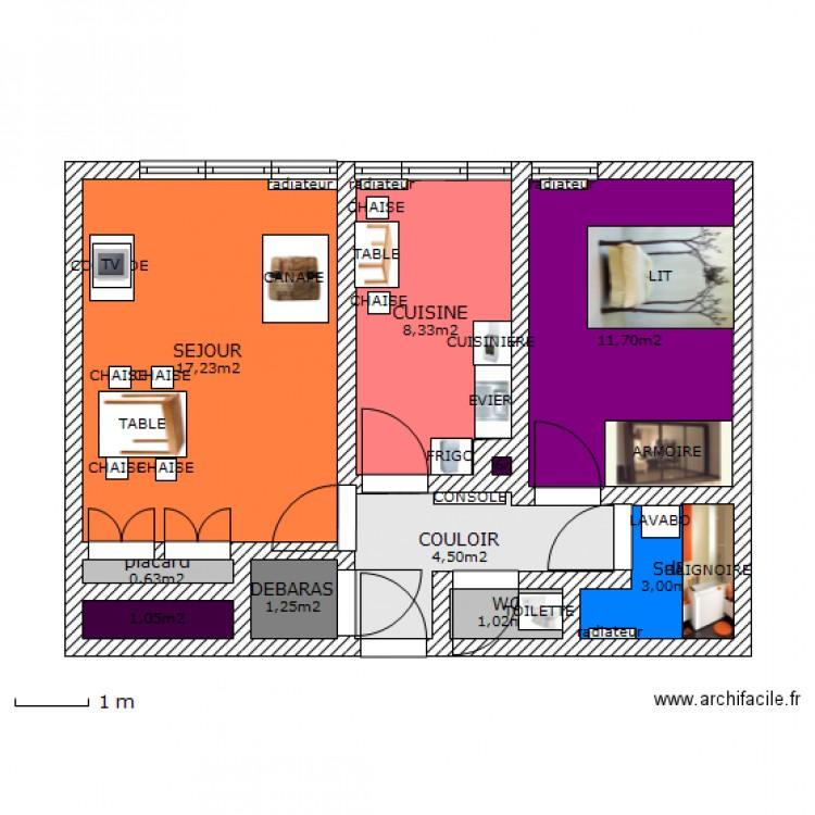 Thiais 3 plan 10 pi ces 49 m2 dessin par thiais 1 for Piscine thiais