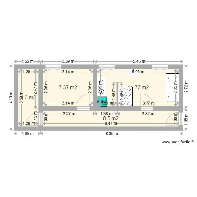 Salle de bain plan 4 pi ces 32 m2 dessin par darf for Salle de bain 4 m2