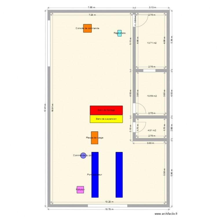plan du centre de contr le technique plan 4 pi ces 169 m2 dessin par mouhsineca. Black Bedroom Furniture Sets. Home Design Ideas