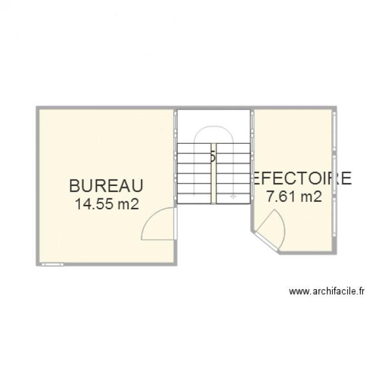 Bureau et refectoire mudaison definitif plan 3 pi ces 27 for Nombre de m2 par personne bureau