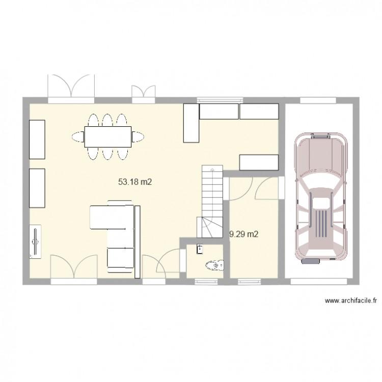 Facade 13m 3 plan 2 pi ces 62 m2 dessin par marydjimmy77 for Plan de maison facade