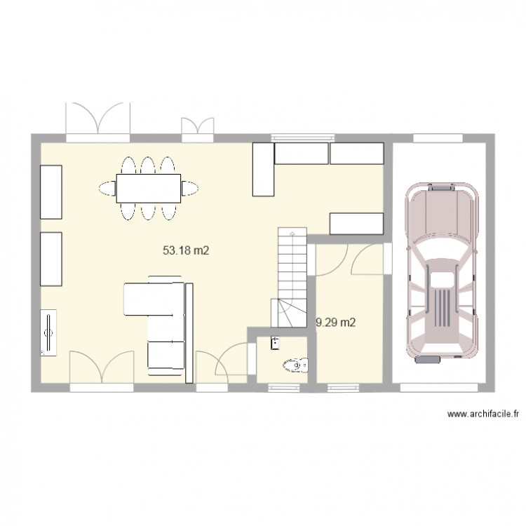 Facade 13m 3 plan 2 pi ces 62 m2 dessin par marydjimmy77 for Plan facade maison