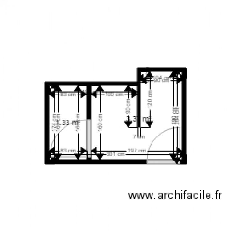 Salle de bain sissi plan 2 pi ces 5 m2 dessin par bobz40 for Salle de bain 7 5 m2