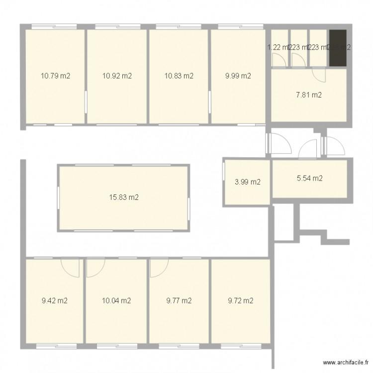 Paul guyesse 2 plan 16 pi ces 120 m2 dessin par sauvegarde56 - Plan appartement 120 m2 ...