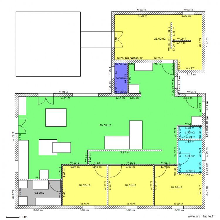 Maison he ha plan 9 pi ces 152 m2 dessin par tigrerouge321 for Taille moyenne maison