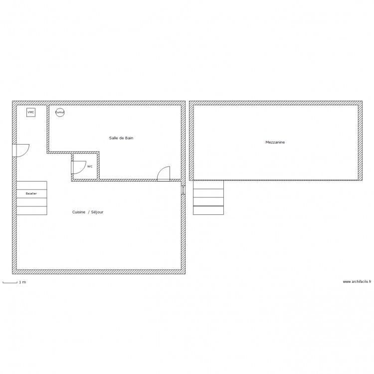 studio mezzanine duplessey 2eme plan 4 pi ces 197 m2 dessin par paska. Black Bedroom Furniture Sets. Home Design Ideas