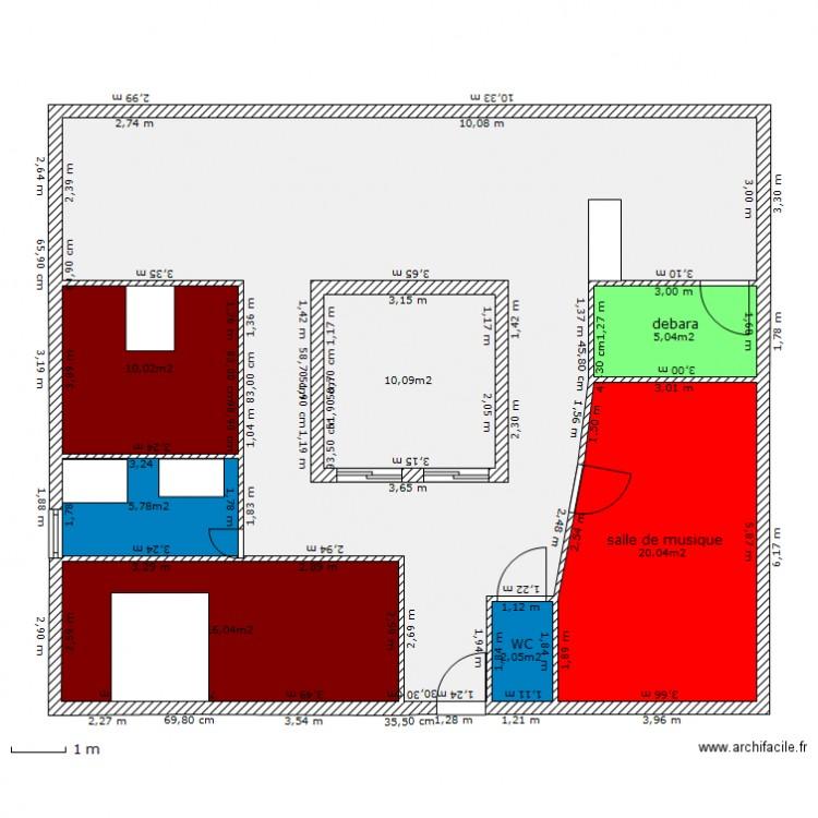 Maison patio 2 plan 8 pi ces 144 m2 dessin par mixmusette for Dessiner plan patio