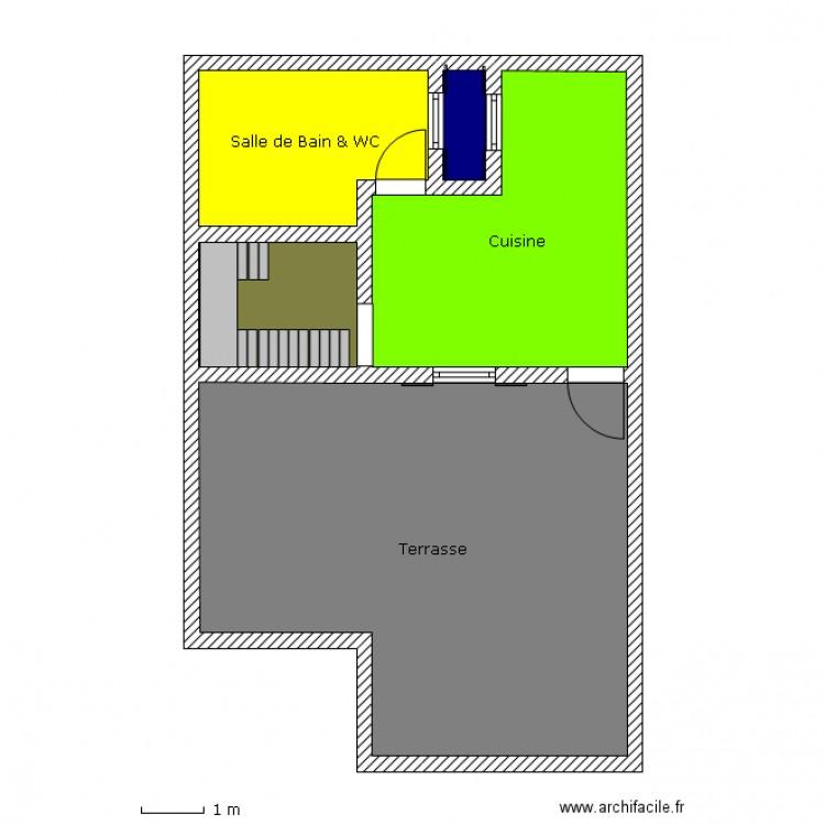 Maison etage 2 plan 5 pi ces 65 m2 dessin par prince1979 for Plan de maison 5 pieces