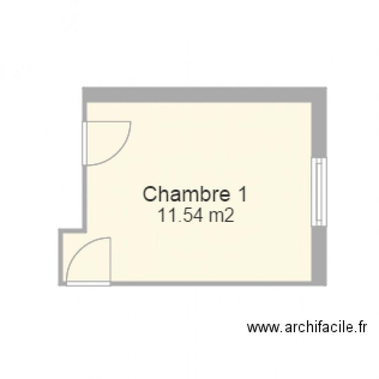 Chambre plan 1 pi ce 12 m2 dessin par popow for Chambre one piece