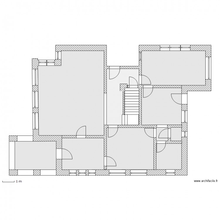rez de chausse plan 4 pi ces 116 m2 dessin par evelyse. Black Bedroom Furniture Sets. Home Design Ideas