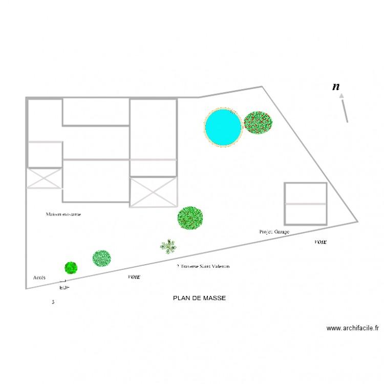 Plan de masse plan 5 pi ces 4 m2 dessin par maxracer - Dessiner un plan de masse ...