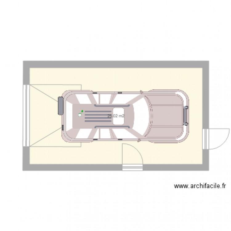 garage plan 1 pi ce 25 m2 dessin par languilaire. Black Bedroom Furniture Sets. Home Design Ideas