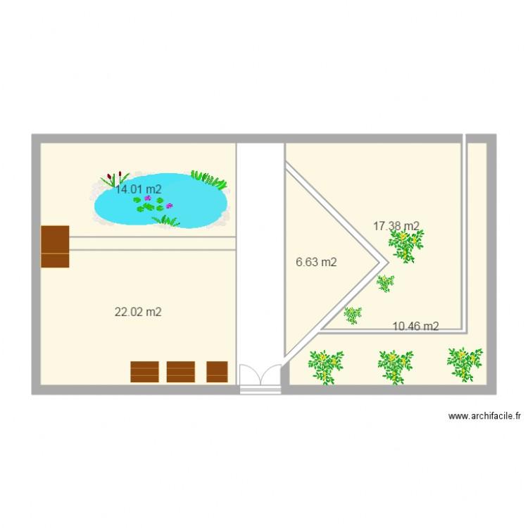 Jardin plan 5 pi ces 71 m2 dessin par papinoyannick for Jardin 71