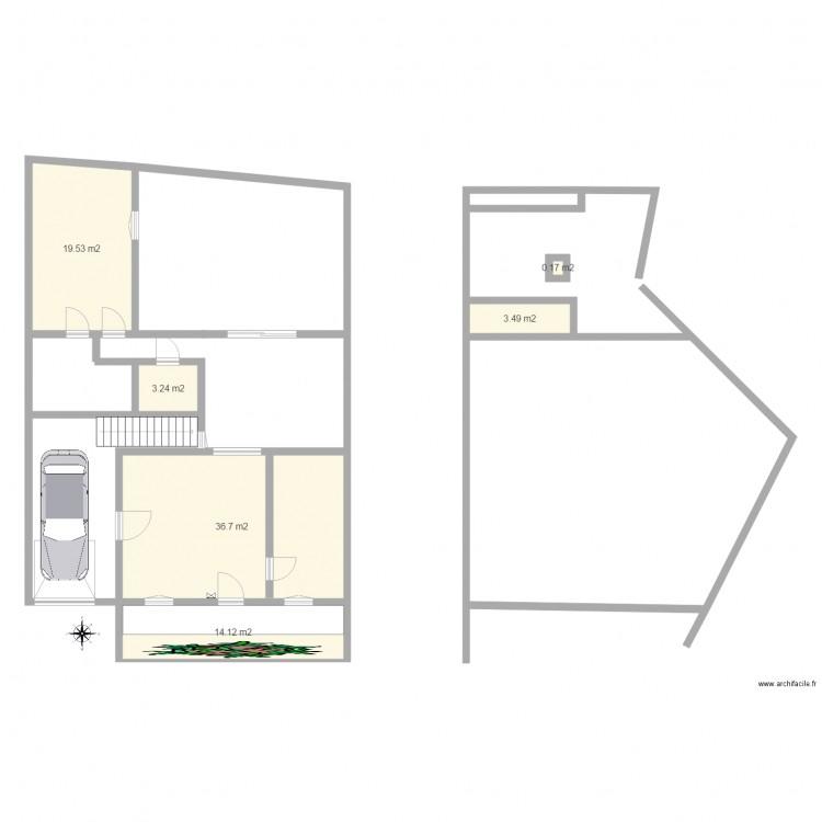 Avoir plan 6 pi ces 77 m2 dessin par titus01 for Obtenir des plans