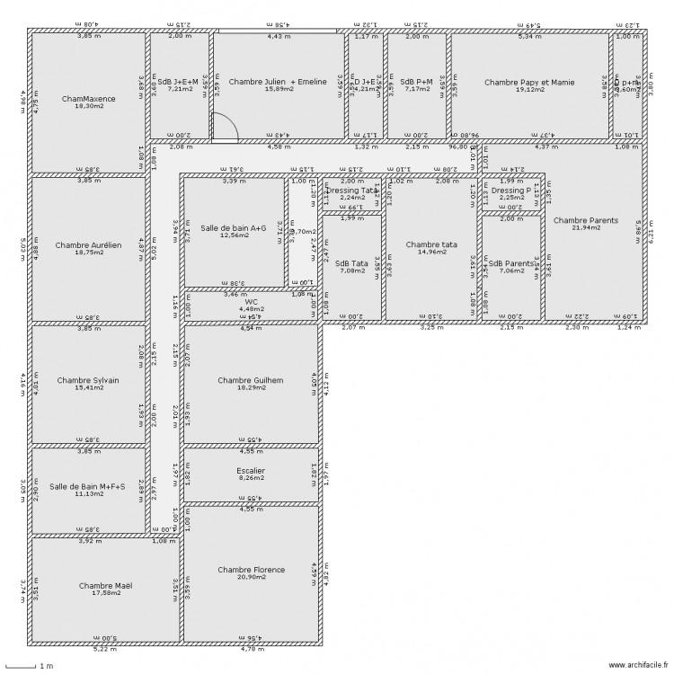 maison de r ve 1er etage plan 24 pi ces 286 m2 dessin par emie29. Black Bedroom Furniture Sets. Home Design Ideas