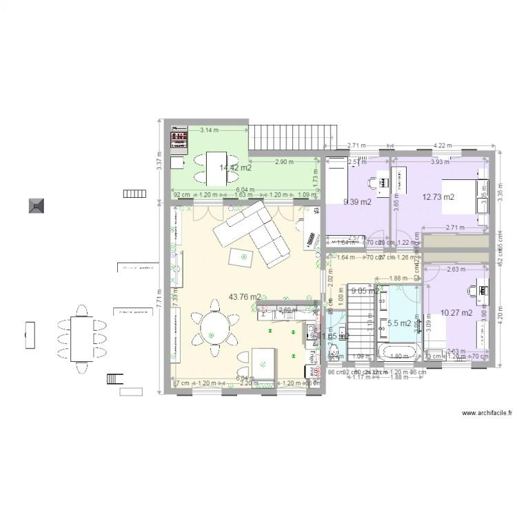 maison cygnes projet 1 meubles 1 electricite plan 10. Black Bedroom Furniture Sets. Home Design Ideas