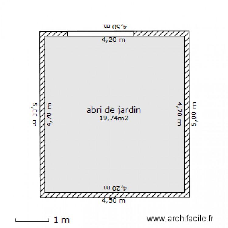 Abri de jardin 1 plan 1 pi ce 20 m2 dessin par abri de jardin carbone - Abri jardin grande taille ...