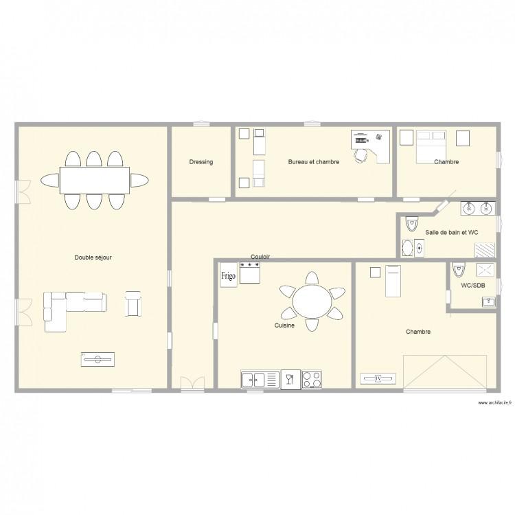 Modification du plan de maison plan 9 pi ces 429 m2 for 429 plan