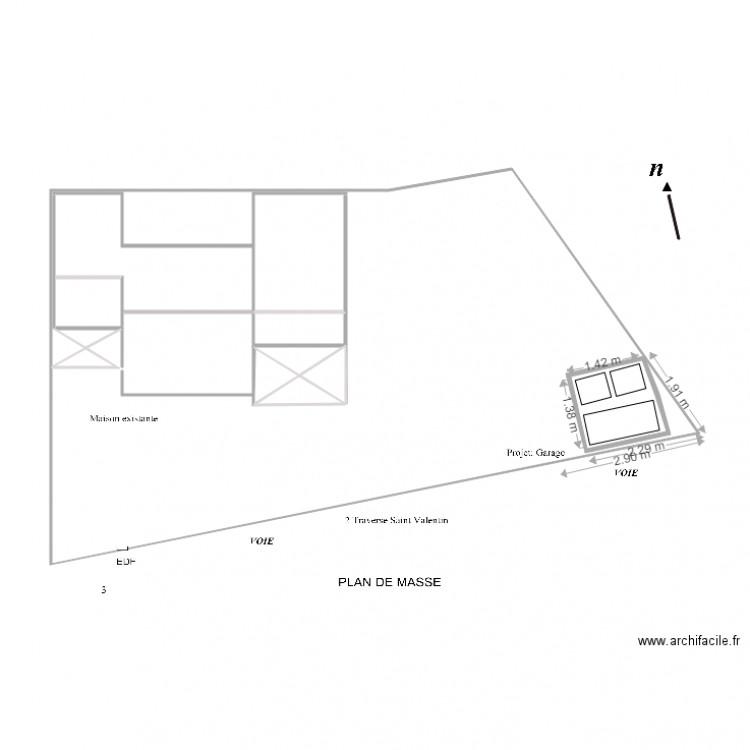 Plan de masse projet garagenew plan 4 pi ces 4 m2 dessin par maxracer - Dessiner un plan de masse ...