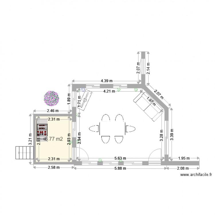 Patio plan 1 pi ce 7 m2 dessin par daniel menard for Dessiner plan patio