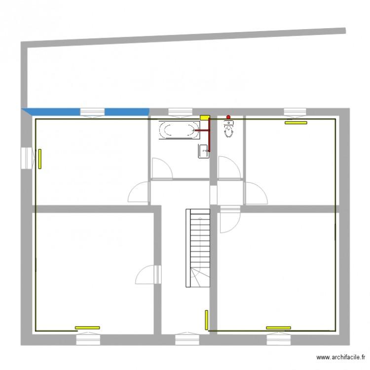 Etage5 chauffage plan 7 pi ces 106 m2 dessin par denis15 for Chauffage watt par m2