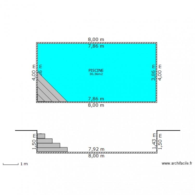 Plan de masse piscine non couverte plan 1 pi ce 30 m2 for Plan piscine
