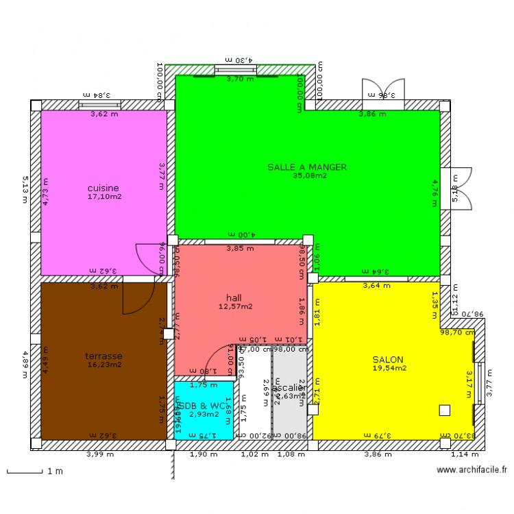 Maison alg rie 1er tage bis plan 7 pi ces 106 m2 for Plan de maison algerie 200m2