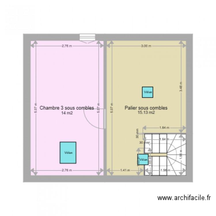 Canteleu 24 plan 2 pi ces 29 m2 dessin par rogeville for Canteleu piscine