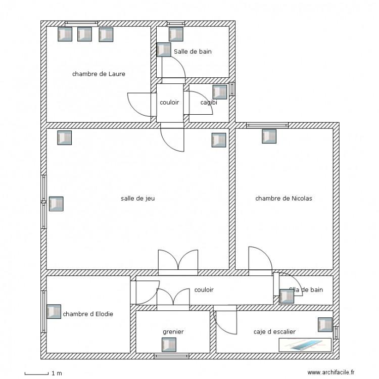 Maison laure plan 11 pi ces 140 m2 dessin par laure - Consommation electrique moyenne maison 140 m2 ...