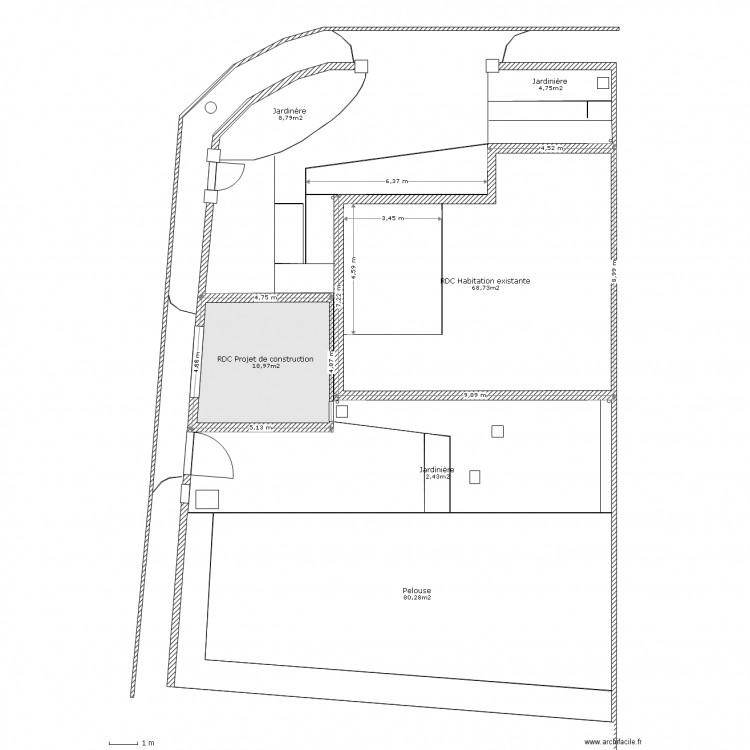 Plan De Masse Dp2 Plan 7 Pi Ces 205 M2 Dessin Par Fred32