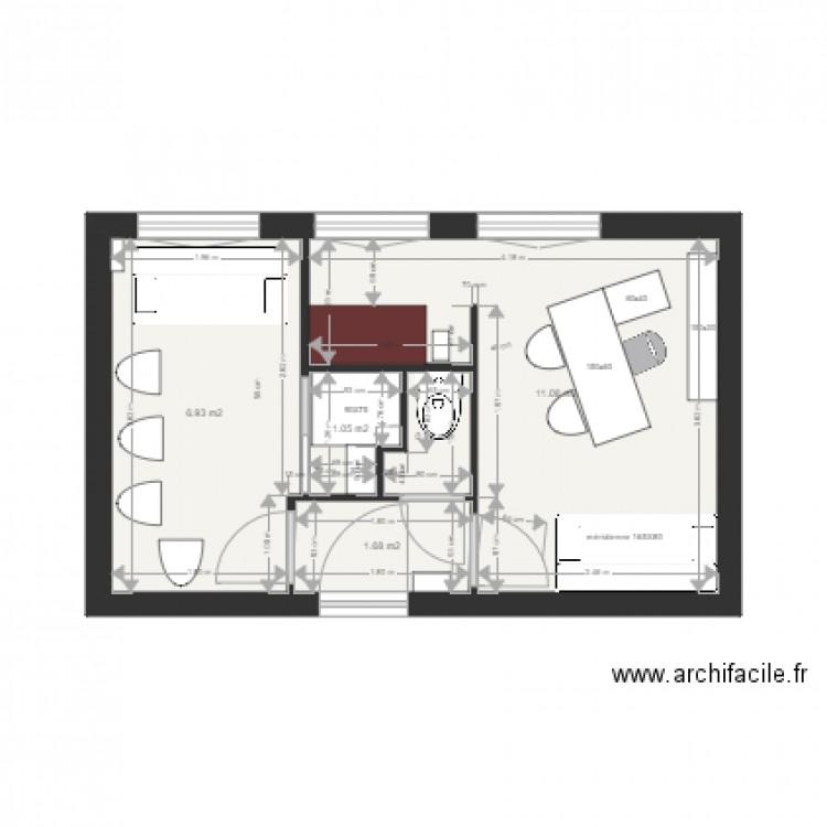 Schulmann plan 2d projet d finitif v2 plan 5 pi ces 22 m2 dessin par soleil4475 - Plan 2d facile ...