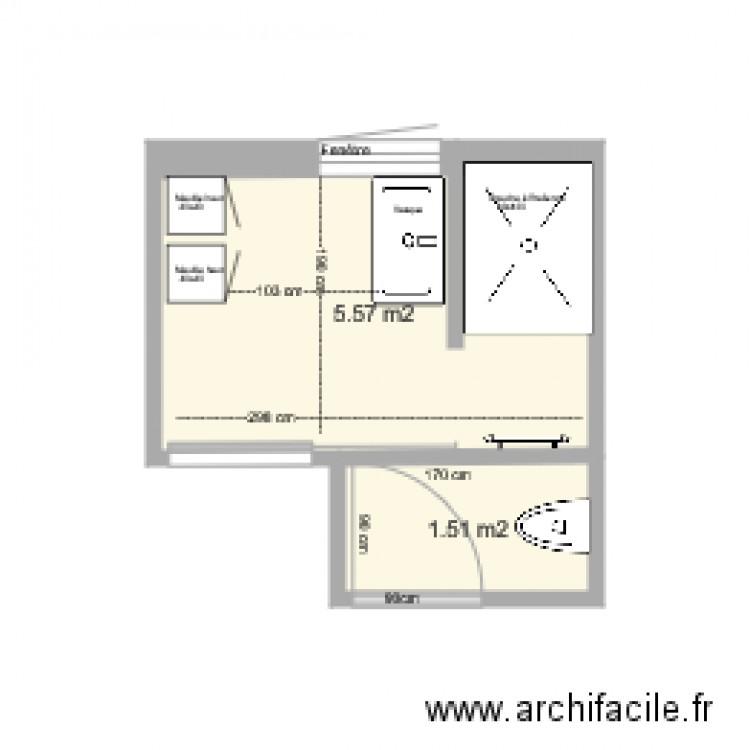 sdb et wc plan 2 pi ces 7 m2 dessin par elder38. Black Bedroom Furniture Sets. Home Design Ideas