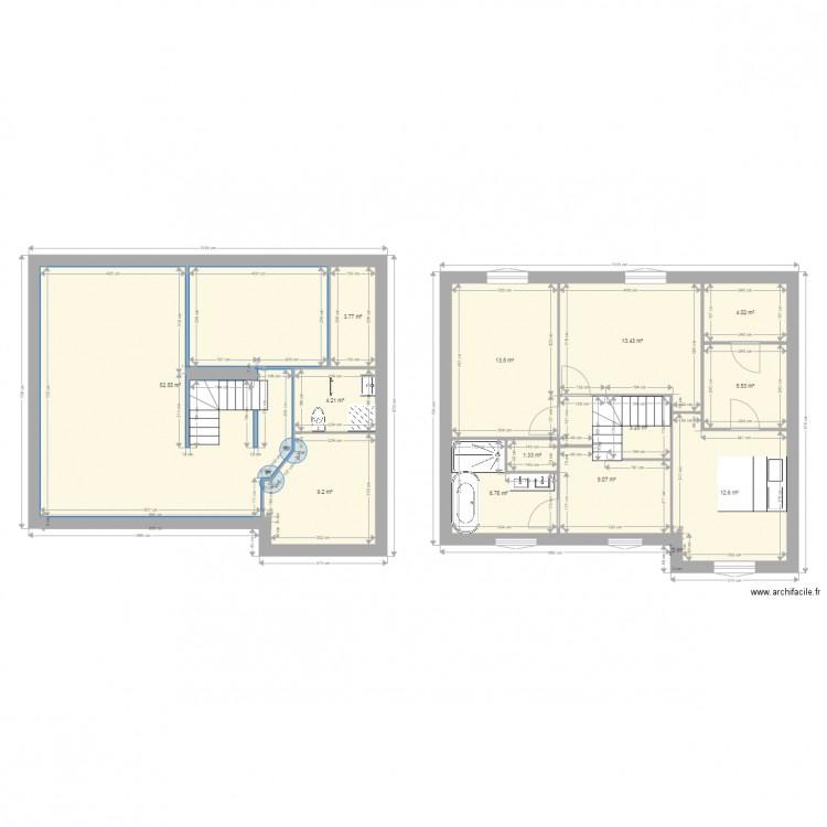 Plan maison plan 14 pi ces 140 m2 dessin par kiki1 for Plan maison 140m2