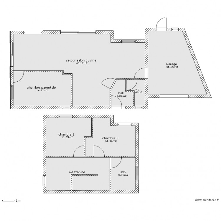 plan masse 3 chambres avec garage plan 9 pi ces 131 m2 dessin par bart56. Black Bedroom Furniture Sets. Home Design Ideas