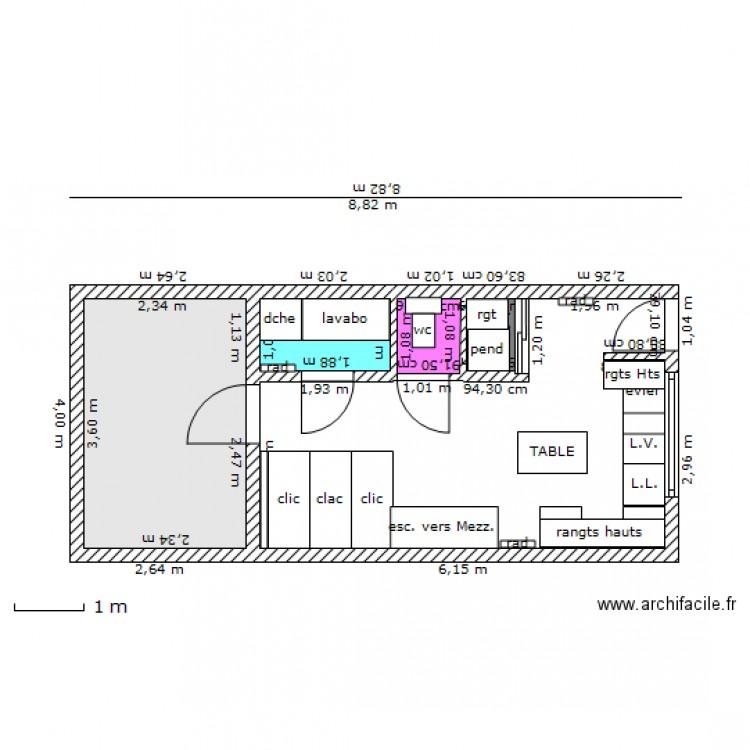 Studio grenier avec nom des objts et clic clac plan 4 pi ces 12 m2 dessin - Clic clac petite taille ...