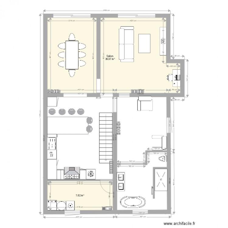 bas maison plan 2 pi ces 45 m2 dessin par chunlipim. Black Bedroom Furniture Sets. Home Design Ideas