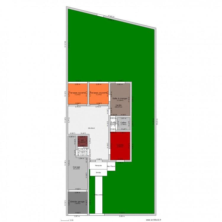 Maison exterieur plan 12 pi ces 283 m2 dessin par for Plan exterieur maison