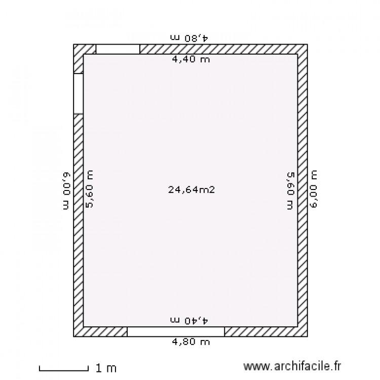 garage lucette plan 1 pi ce 25 m2 dessin par tiozzo. Black Bedroom Furniture Sets. Home Design Ideas